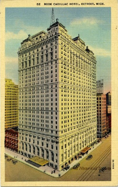 Book-Cadillac Hotel postcard, 1930s - 1945.070.001