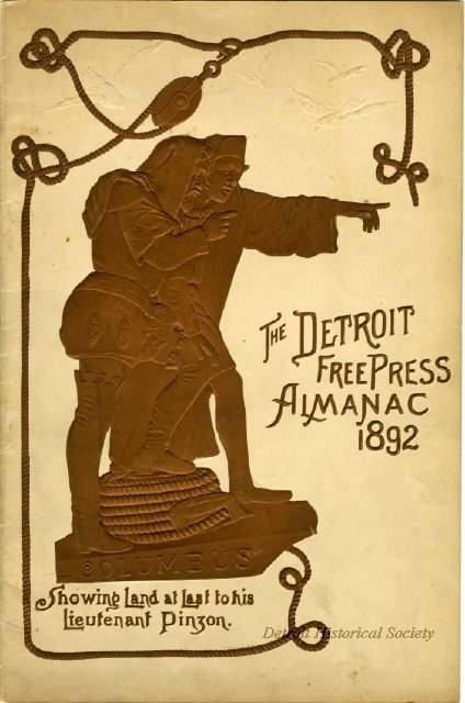 1892 Almanac from the Detroit Free Press