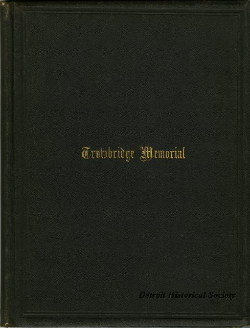 Book detailing the a memorial banquet for Charles C. Trowbridge, 1883 - 1947.166.002