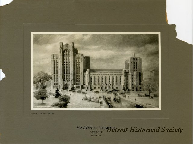 Drawing of the Masonic Temple, 1920s - 1948.203.001