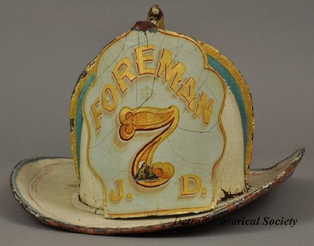 Jeremiah Dwyer's leather fire helmet