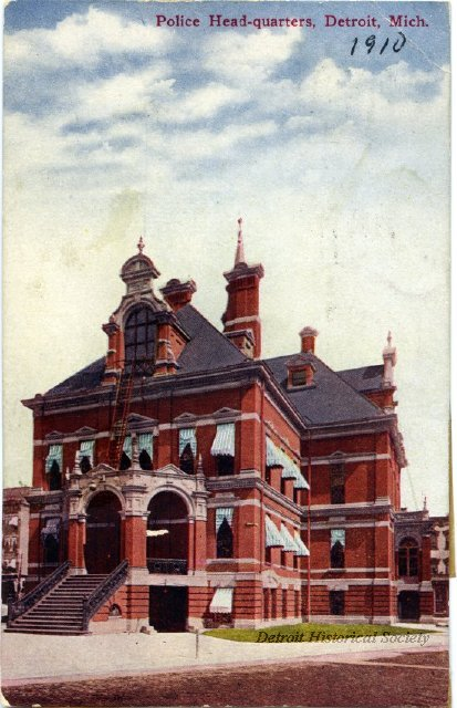 1910 Detroit Police Headquarters postcard