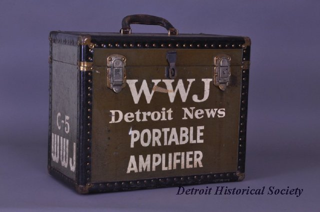 WWJ portable amplifier, 1936 - 1960.168.002