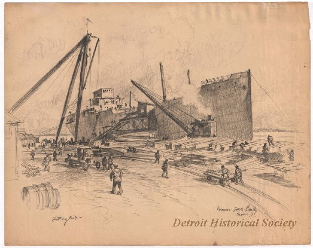 Sketch of the Great Lakes Engineering Works, 1919