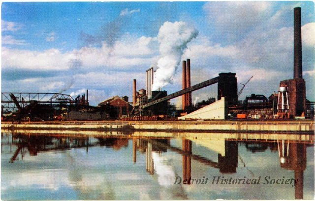 Ford Rouge Complex postcard, 1960s
