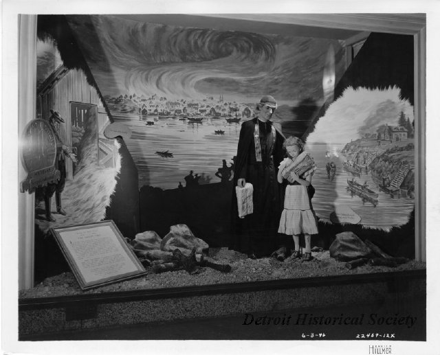 Hudson's Department Store display featuring the Great Fire of 1805, 1946