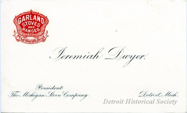 Jeremiah Dwyer's business card