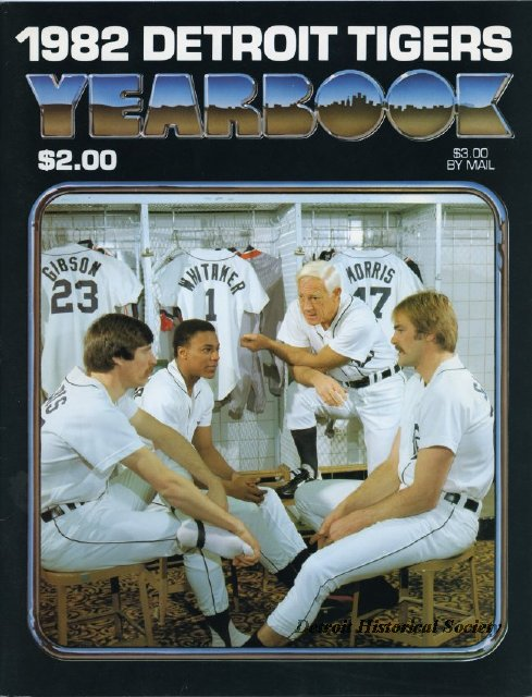 Kirk Gibson on the cover of the 1982 Tigers' Yearbook