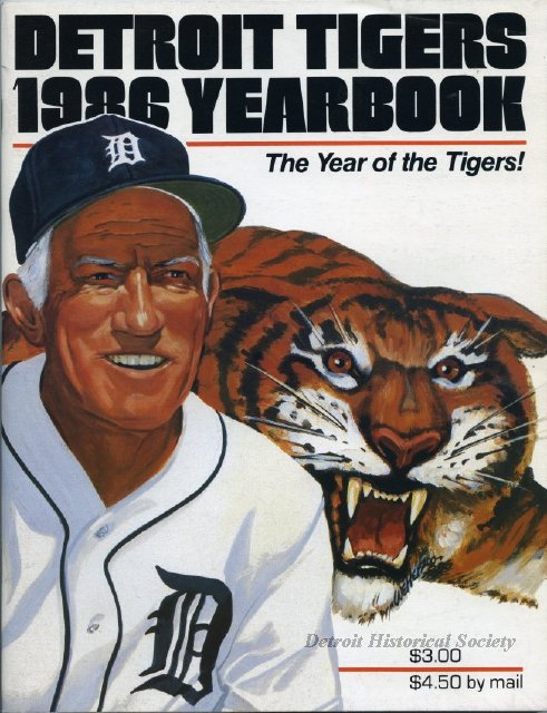 Sparky Anderson on Tigers' 1986 Yearbook cover