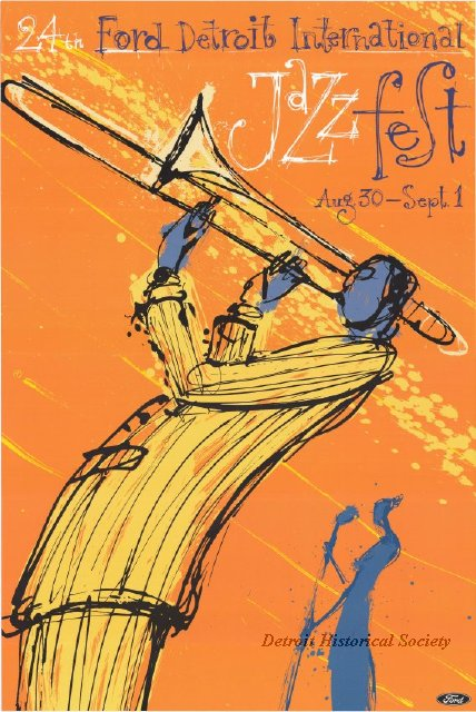 2003 Detroit International Jazz Festival poster
