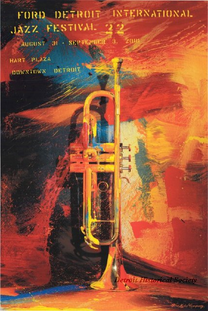 2001 Detroit International Jazz Festival poster