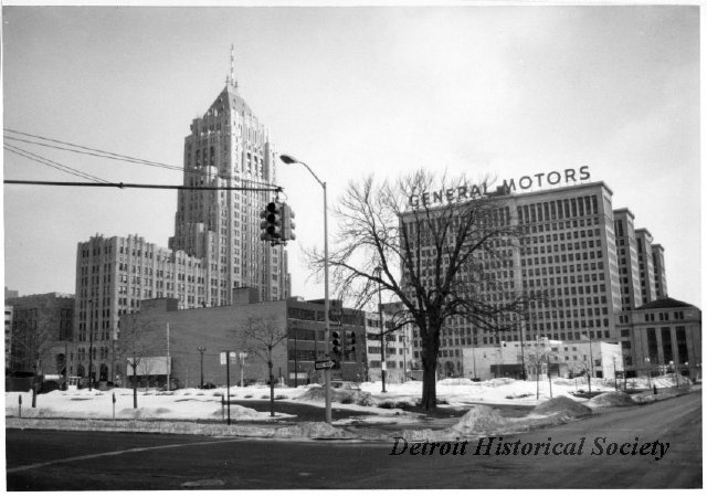 General Motors and the Fisher Building in New Center, 1982 - 2008.033.718