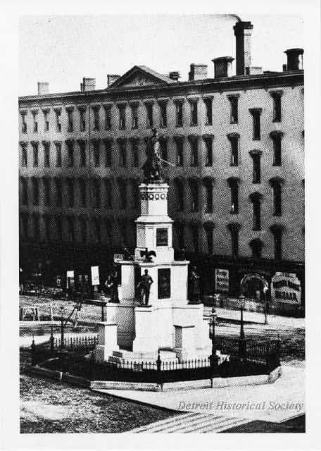 The Soldiers and Sailors Monument prior to the addition of female figures, 1885 - 2008.112.156