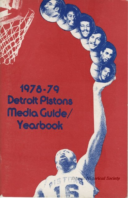 1978 Detroit Pistons media guide and yearbook
