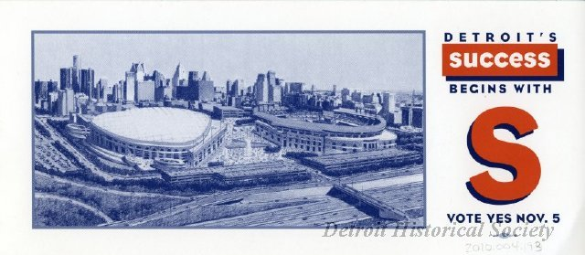 Flyer Supporting Building of Comerica Park