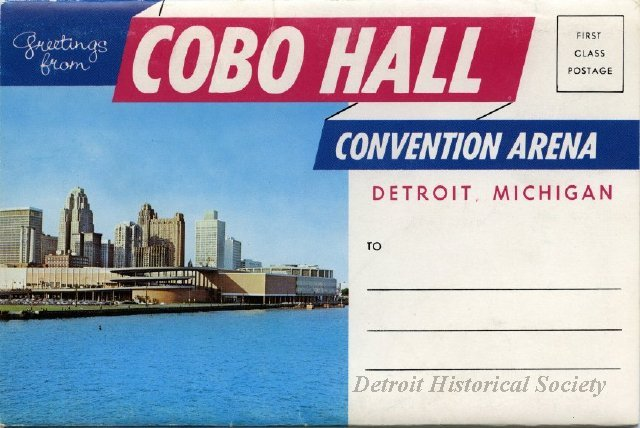 Cobo Hall Post Folder, 1964