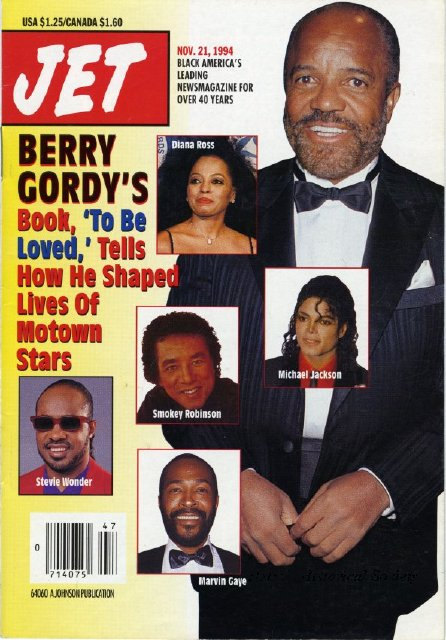 Berry Gordy Jr. featured on the cover of Jet Magazine, 1994