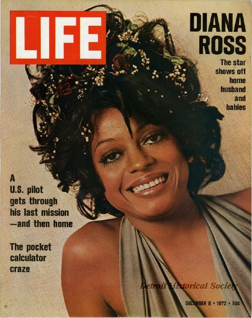Diana Ross on the cover of Life Magazine, 1972 - 2012.005.038