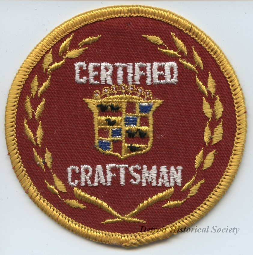 Cadillac Certified Craftsman patch.