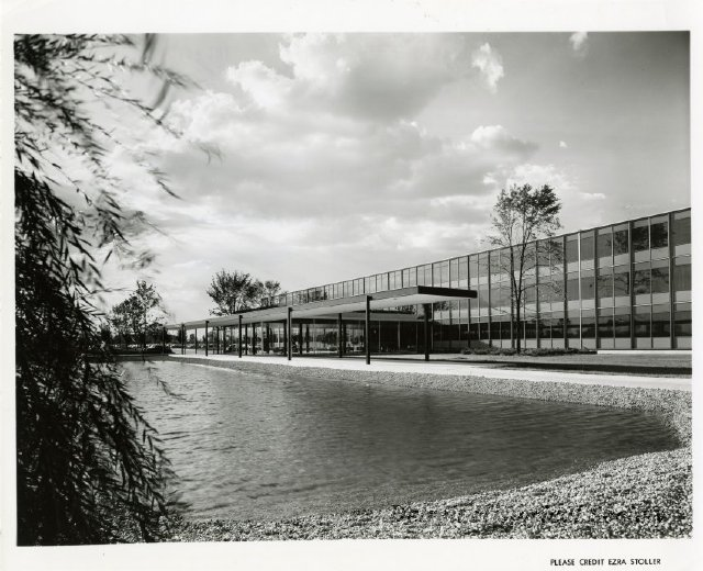 Photo from the grounds of the General Motors Technical Center, 1966 - 2012.022.219