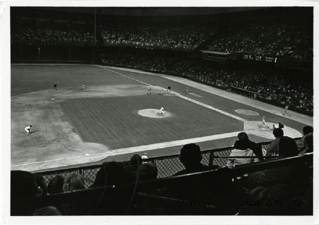 Interior view of Tiger Stadium during a game, 1965 - 2012.032.138