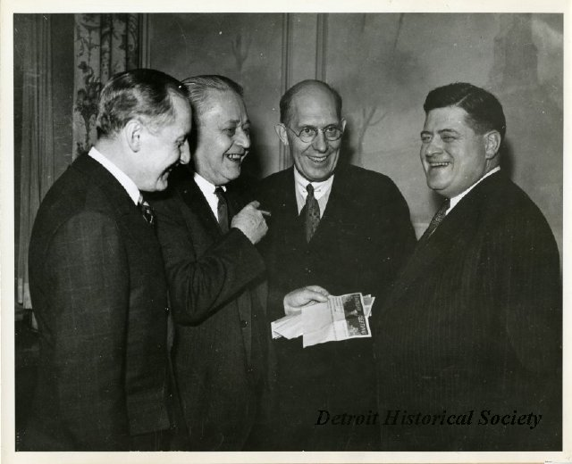 Charles Kettering (middle-right) with other automotive industry leaders, 1955 - 2012.032.212