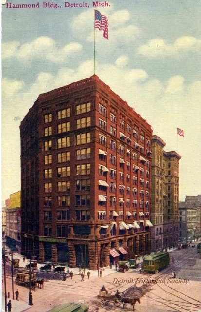 Hammong Building postcard, 1915