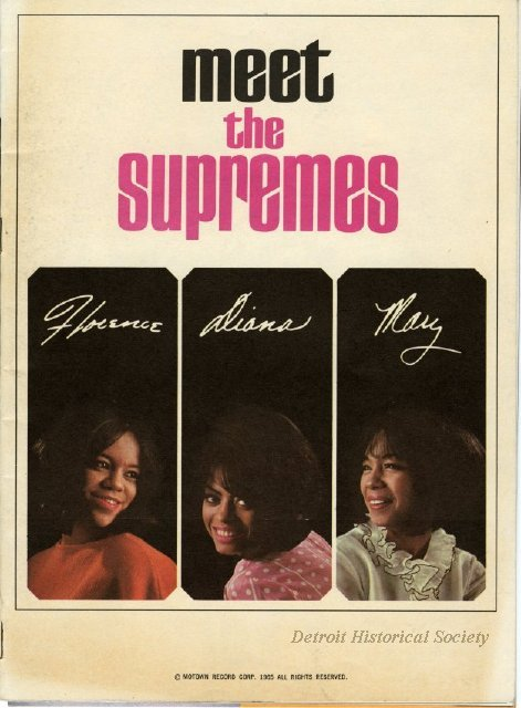 """Meet The Supremes"" booklet, 1965 - 2013.040.167"