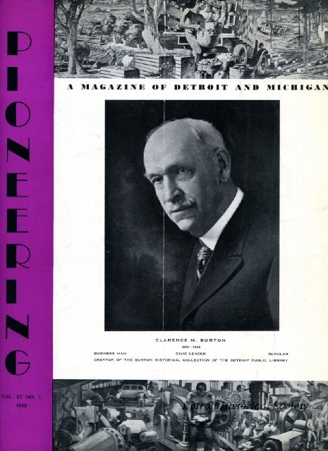 "Clarence Burton on the cover of ""Pioneering"" magazine"