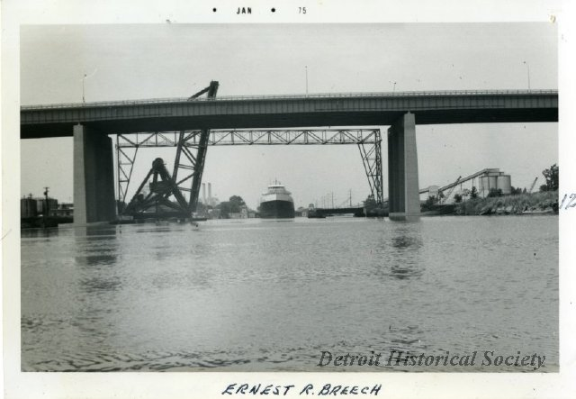 Fisher Freeway Bridge over the River Rouge, 1974