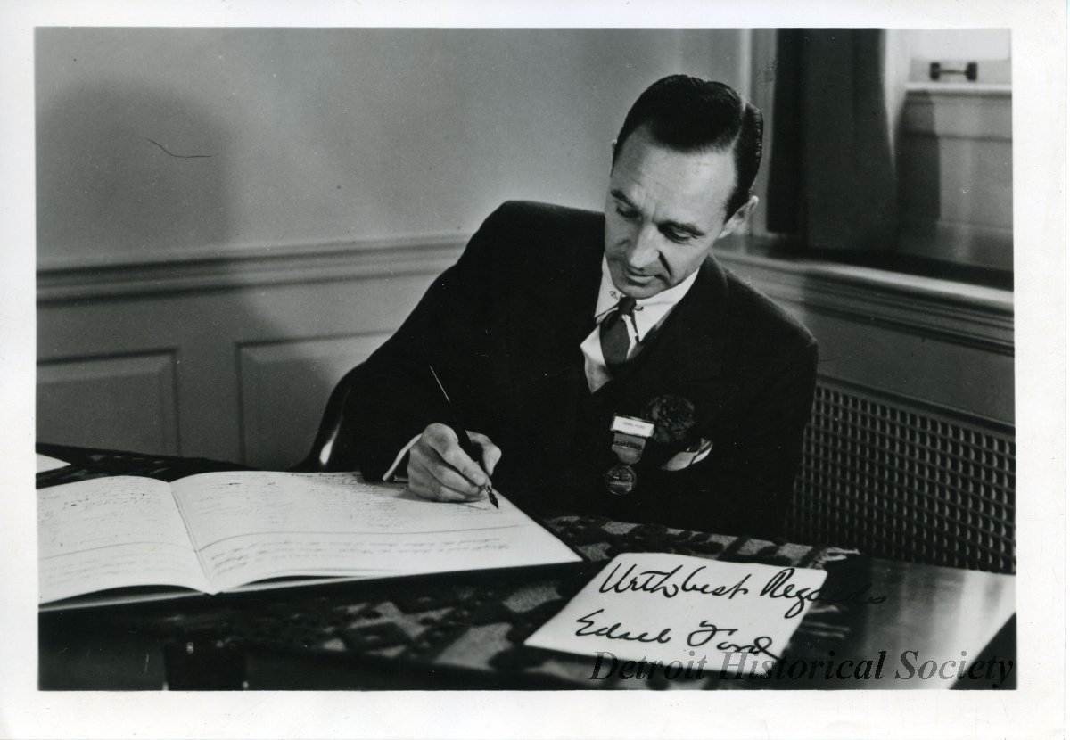 Edsel Ford at Desk, C.1928 - 2013.048.521