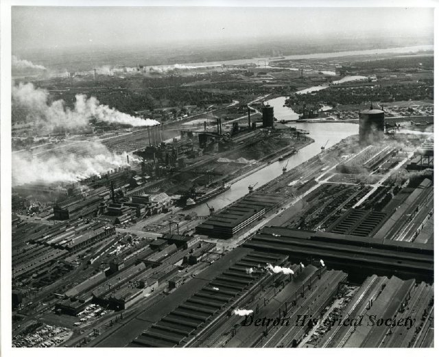 Aerial photo of Ford River Rouge Complex, 1950s