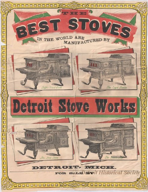 Detroit Stove Works advertisement poster