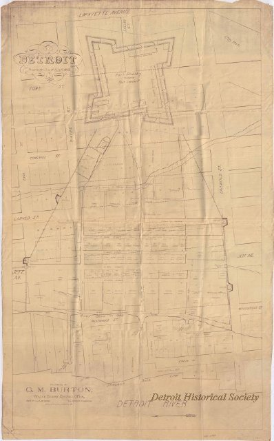 Map of Detroit showing Fort Lernoult, 1805
