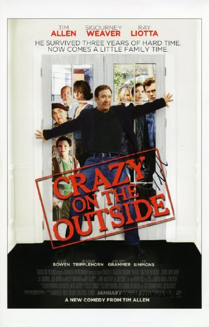"Movie poster proof for ""Crazy on the Outside"", signed by Tim Allen"