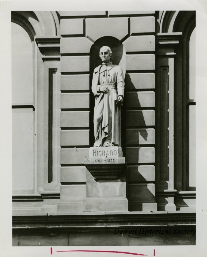 Fr. Gabriel Richard statue by Melchers, photo c.1950 – 2014.003.249