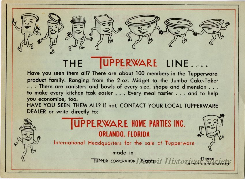 Tupperware Advertisement, 1956 – 2014.114.094
