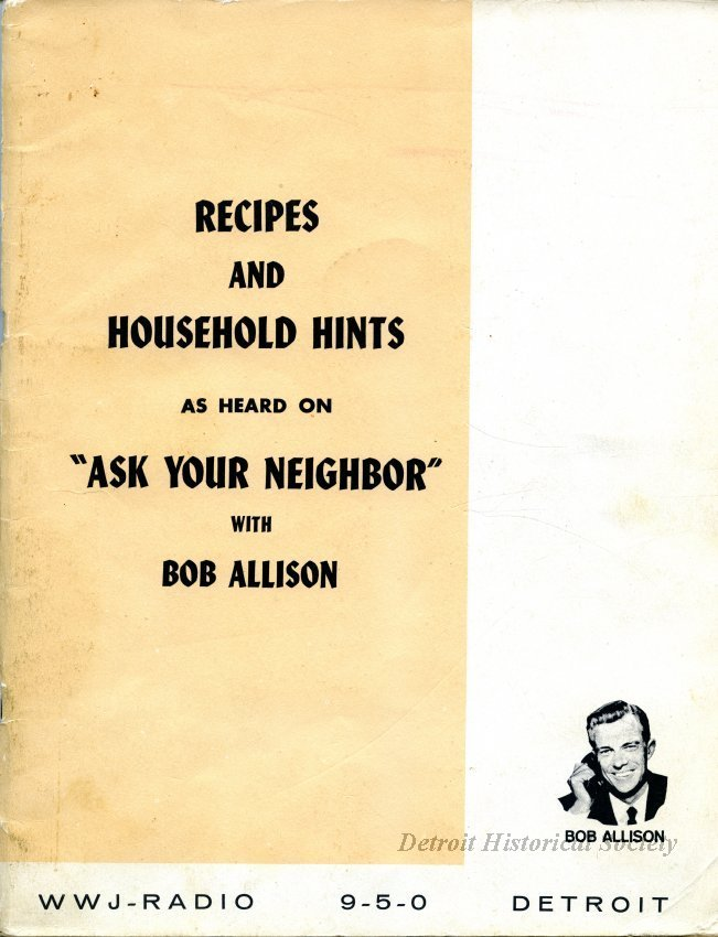 """Ask Your Neighbor"" Recipe Book - 2016.144.001"