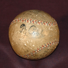 Ty Cobb autographed baseball