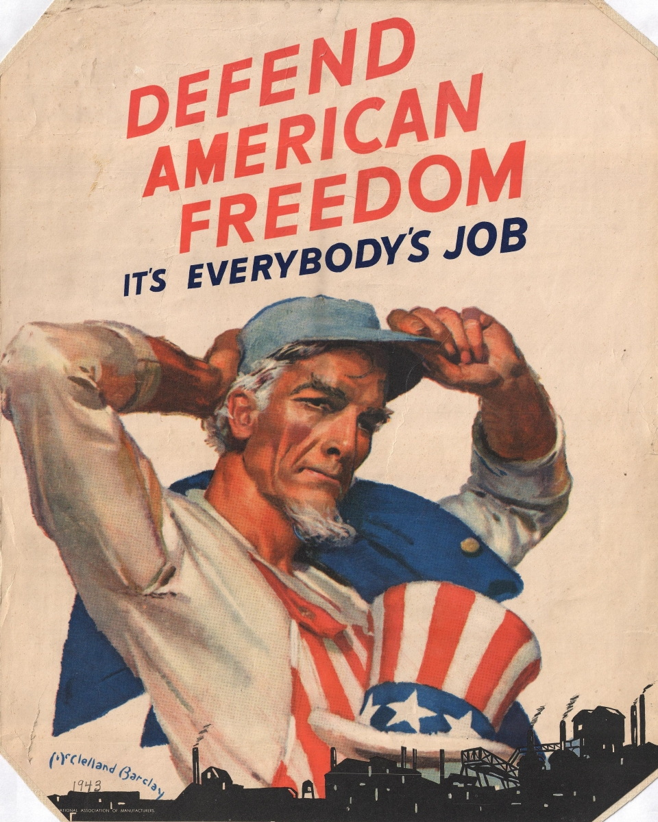 "War poster: ""Defend American Freedom"""